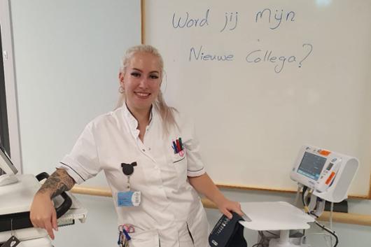 <p>Whitley, allround verpleegkundige,<br />aan het woord</p>